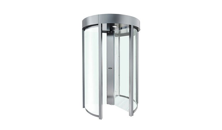 full height clear poe biometric turnstile power over ethernet